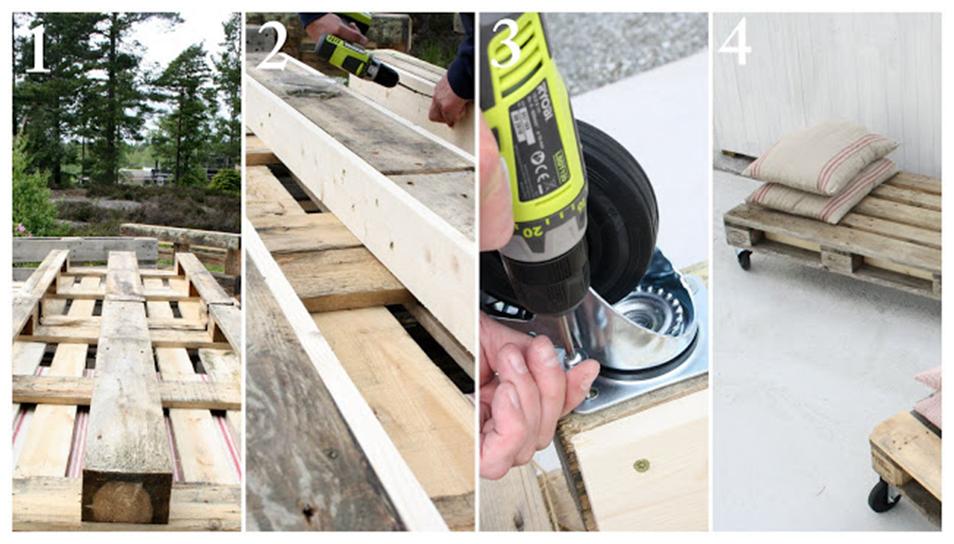 DIY How to make Outdoor pallet sofa via simphome