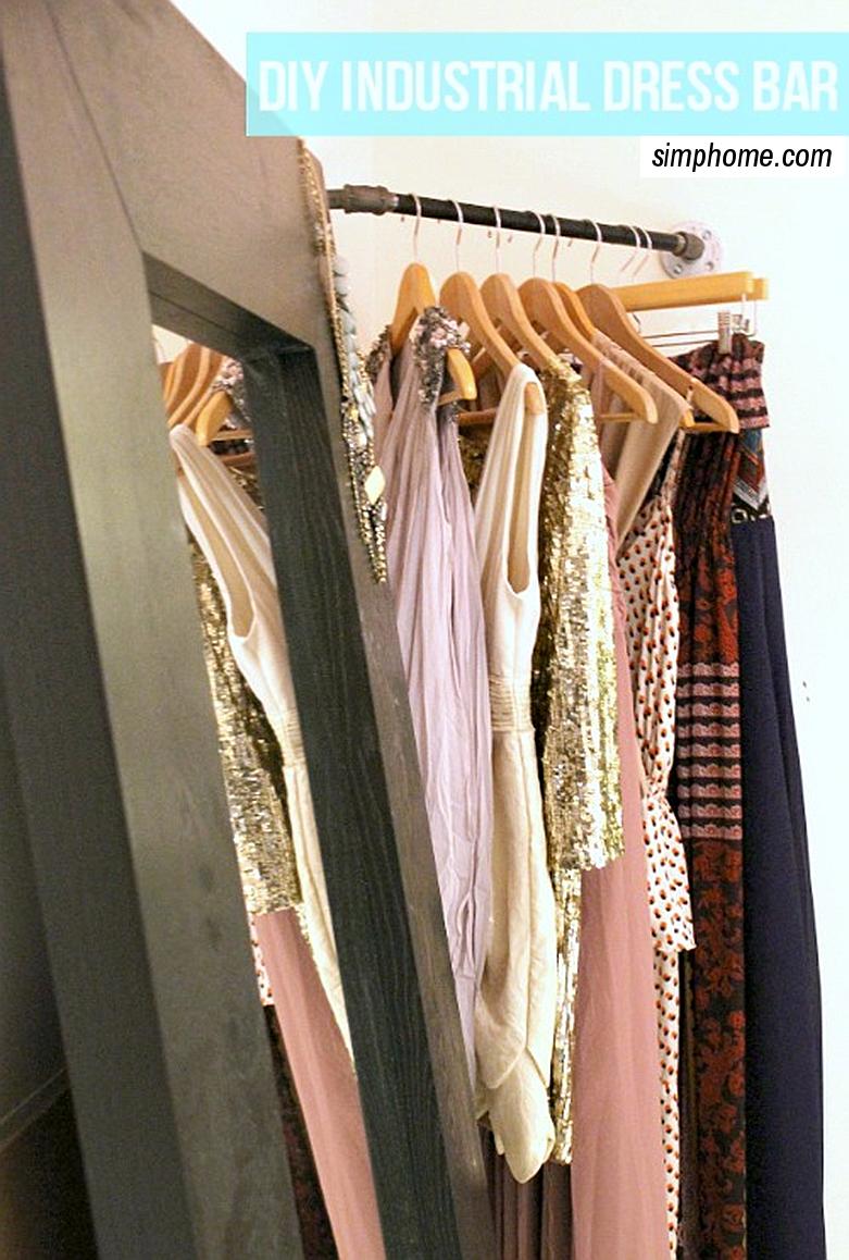 DIY Industrial dress bar via simphome 1