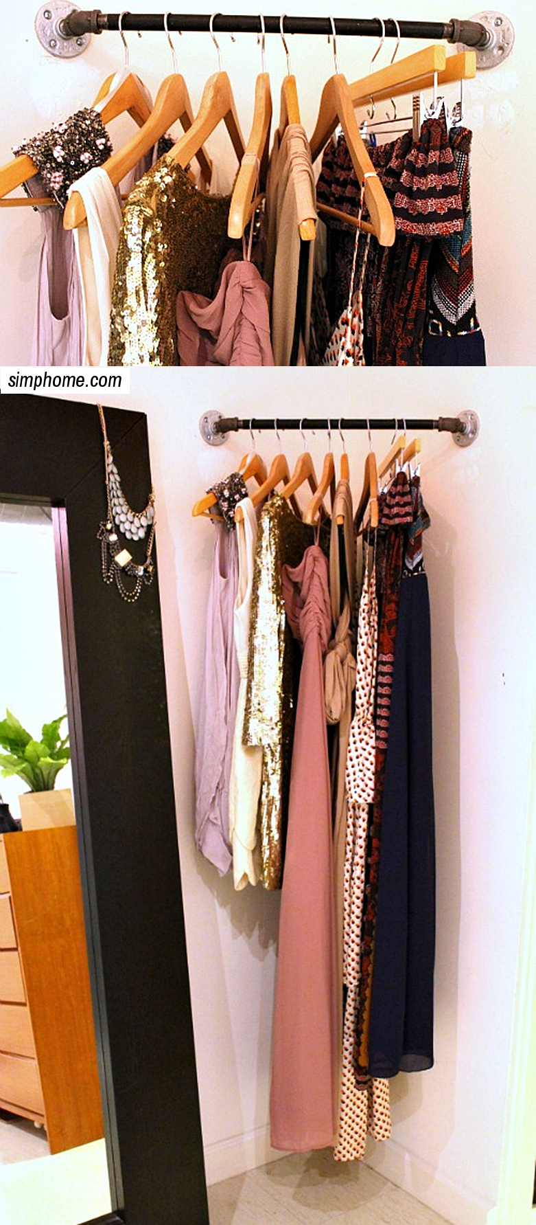 DIY Industrial dress bar via simphome 3