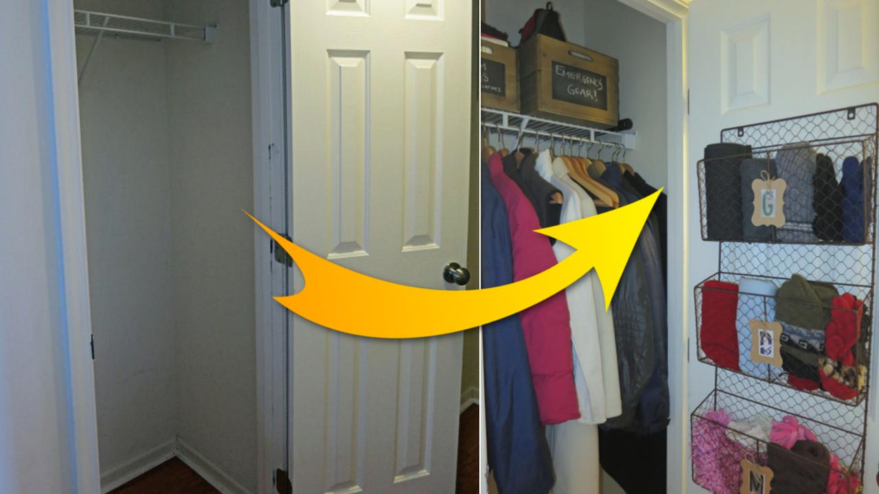 DIY idea How to optimize limited Coat Closet featured Simphome com