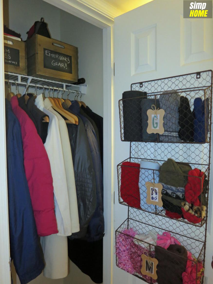 DIY idea How to optimize limited Coat Closet via simphome com After 4
