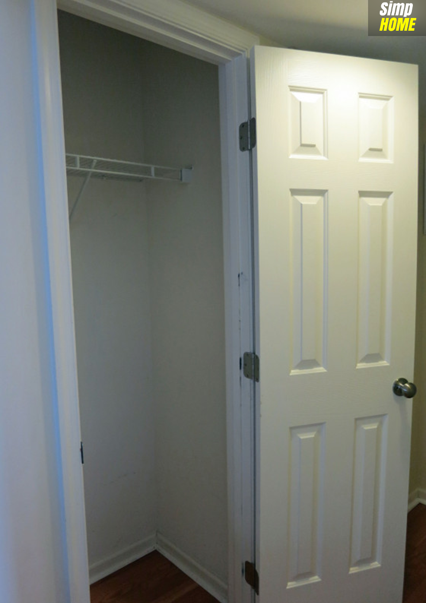 DIY idea How to optimize limited Coat Closet via simphome com Before