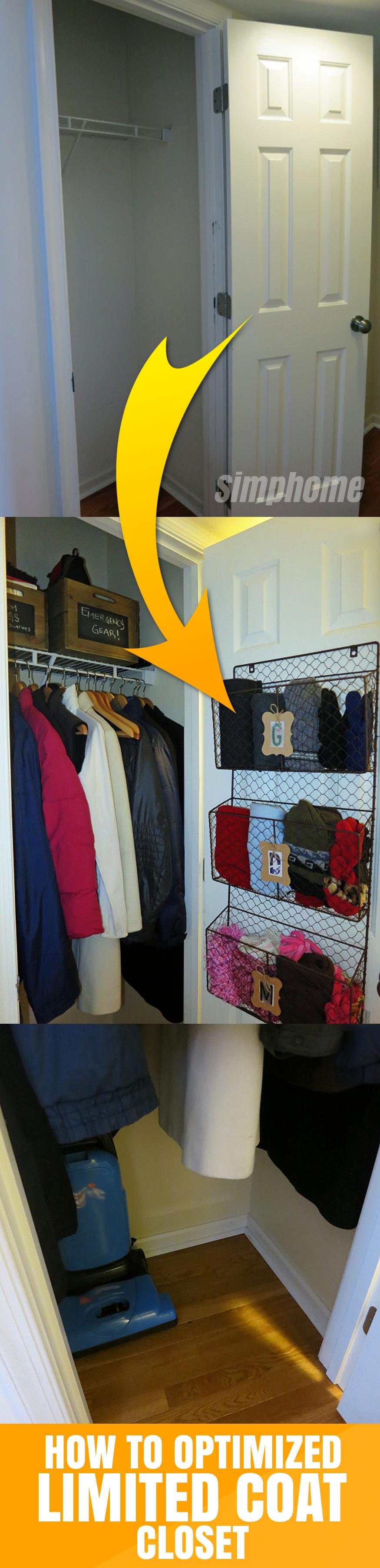 DIY idea How to optimize limited Coat Closet via simphome com FEATURED Post