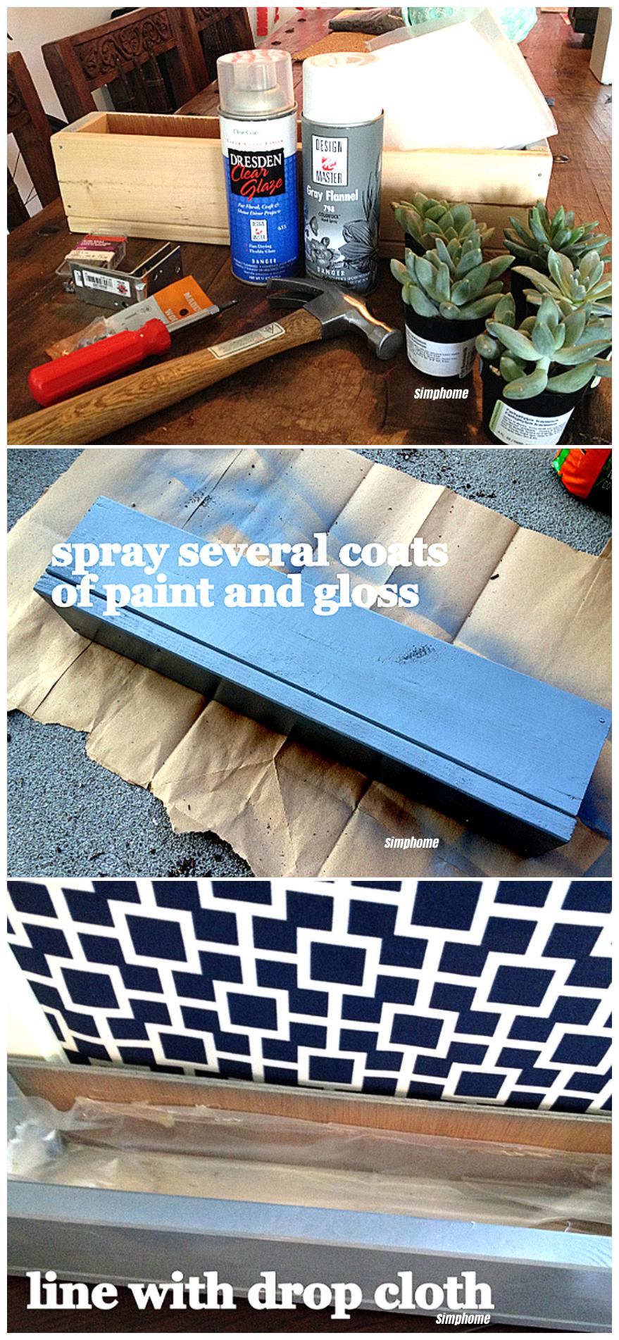 How to Build a DIY corkboard planter via simphome 6 7 8