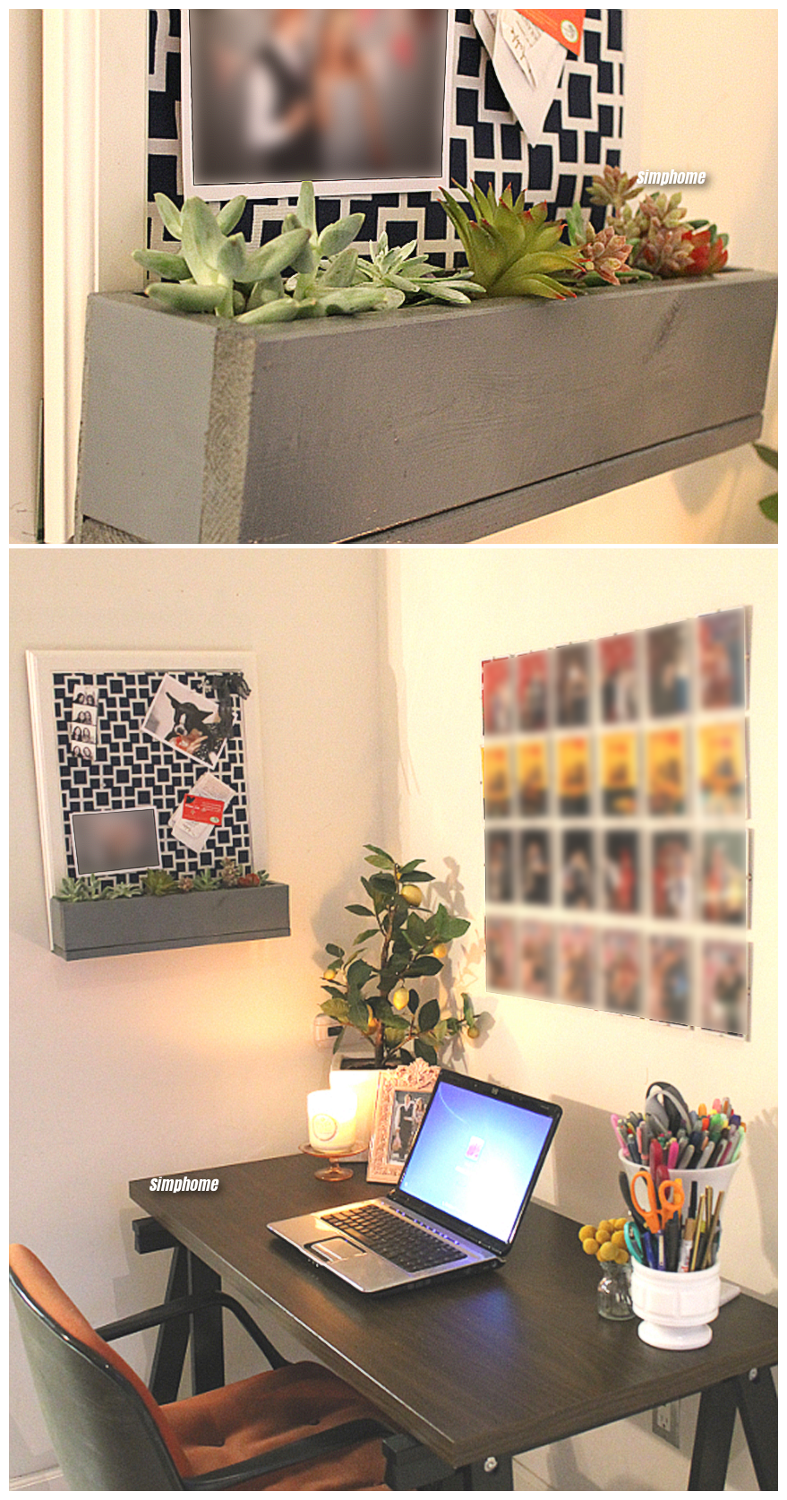 How to Build a DIY corkboard planter via simphome 9