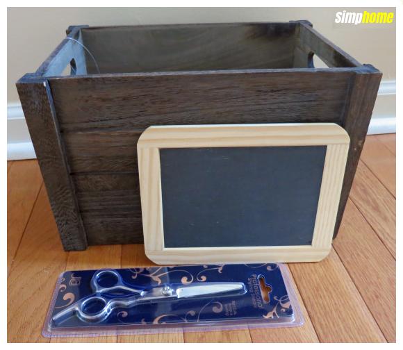 How to makeover A Craft store bin via simphome com 1