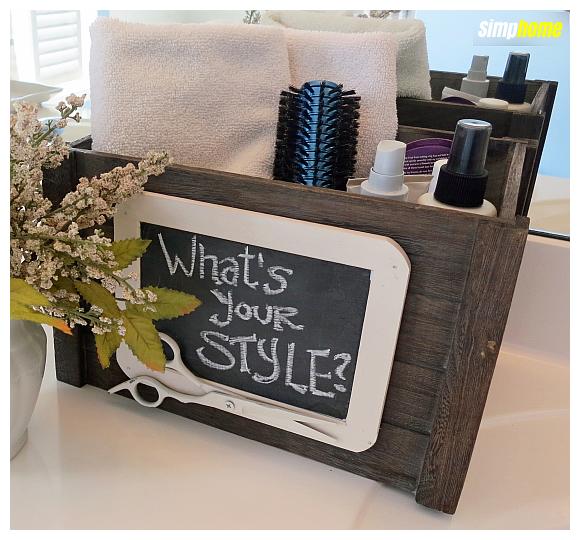 How to makeover A Craft store bin via simphome com 5