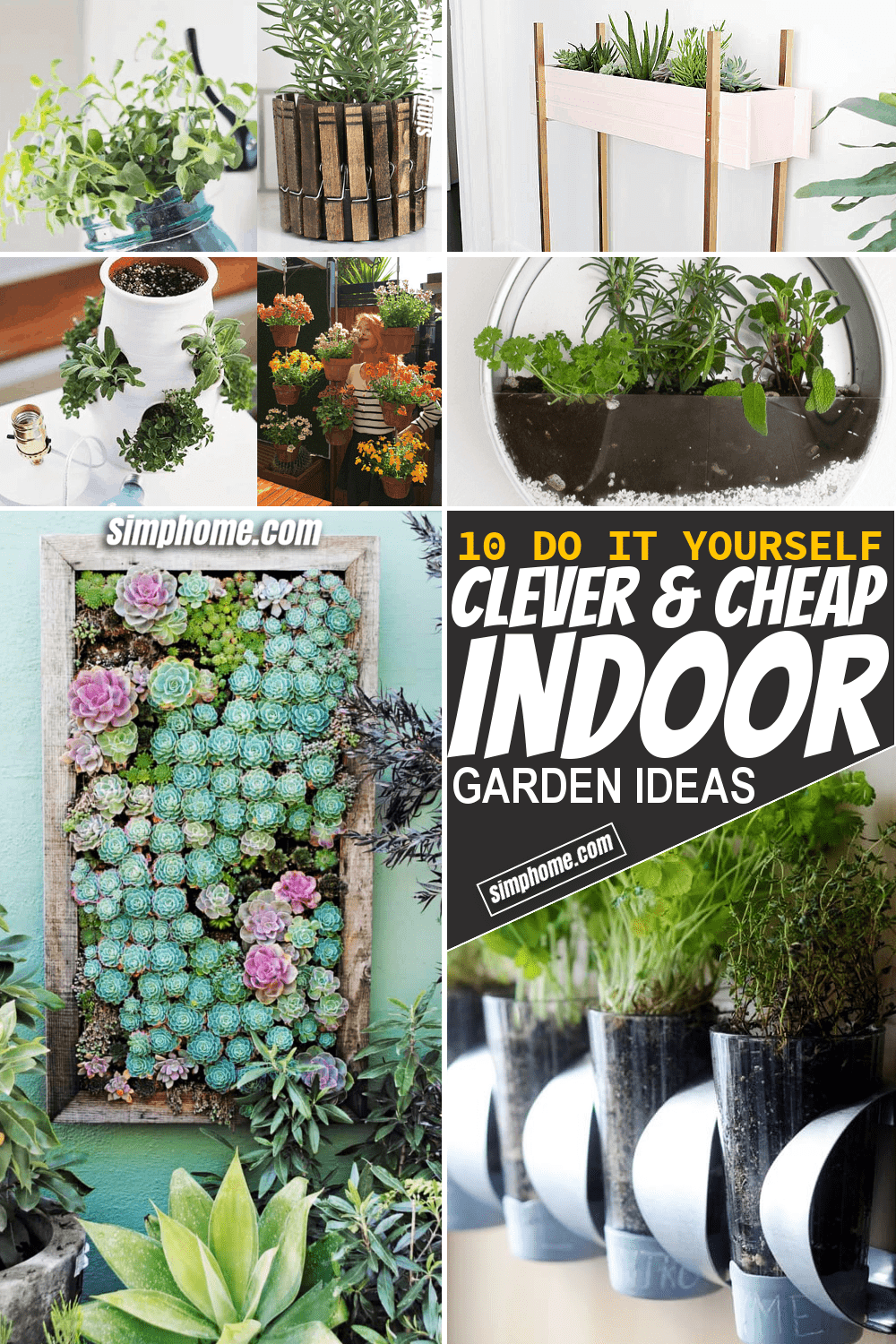 Simphome.com 10 Clever and Cheap Indoor Garden Ideas Thumbnail Video