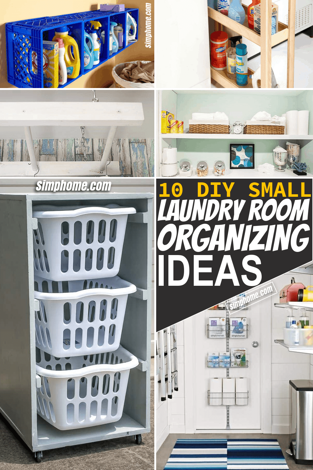 Simphome.com 10 Small Laundry Room Organization Ideas Pinterest Long