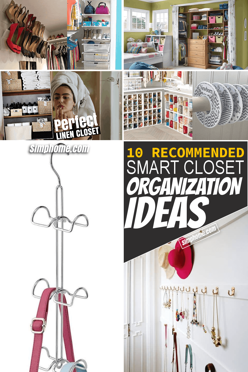 Simphome.com 10 Smart Closet Organization Ideas Pinterest Featured Image