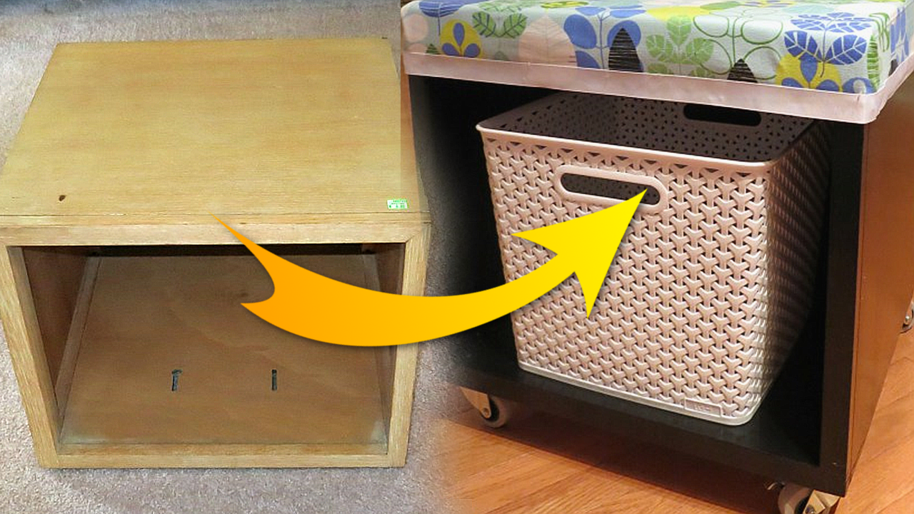 Thrift Shop Storage Cube Transformation idea Via Simphome featured