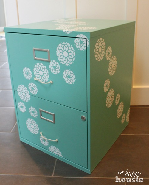 1 Decorate Your Filing Cabinet via simphome