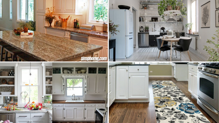 10 Cheap and Easy Small Kitchen Makeovers via simphome featured image