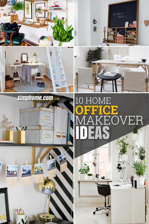 10 Home Office Makeover Ideas via Simphome com pintrerest long