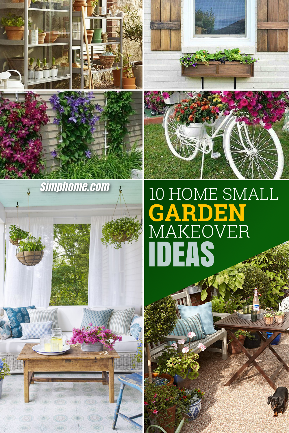 10 Home Small Garden Makeover Ideas via simphome com pinterest image long