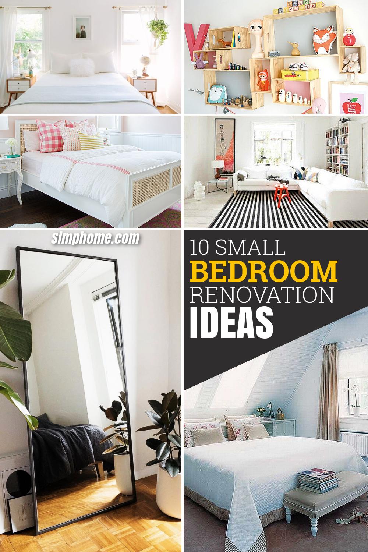 10 Small Bedroom Renovation Makeover Ideas via simphome com Long image