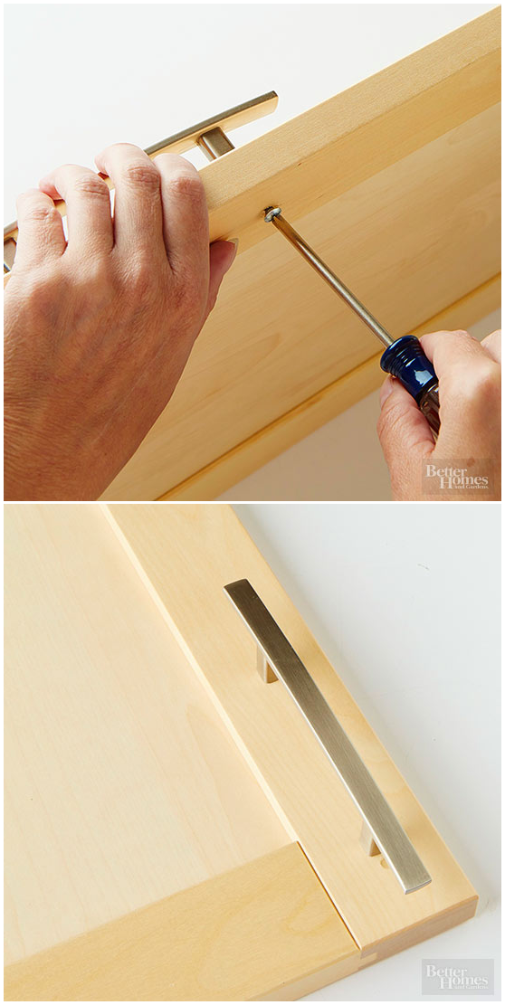 10 Replacing the Cabinet Hardware via simphome