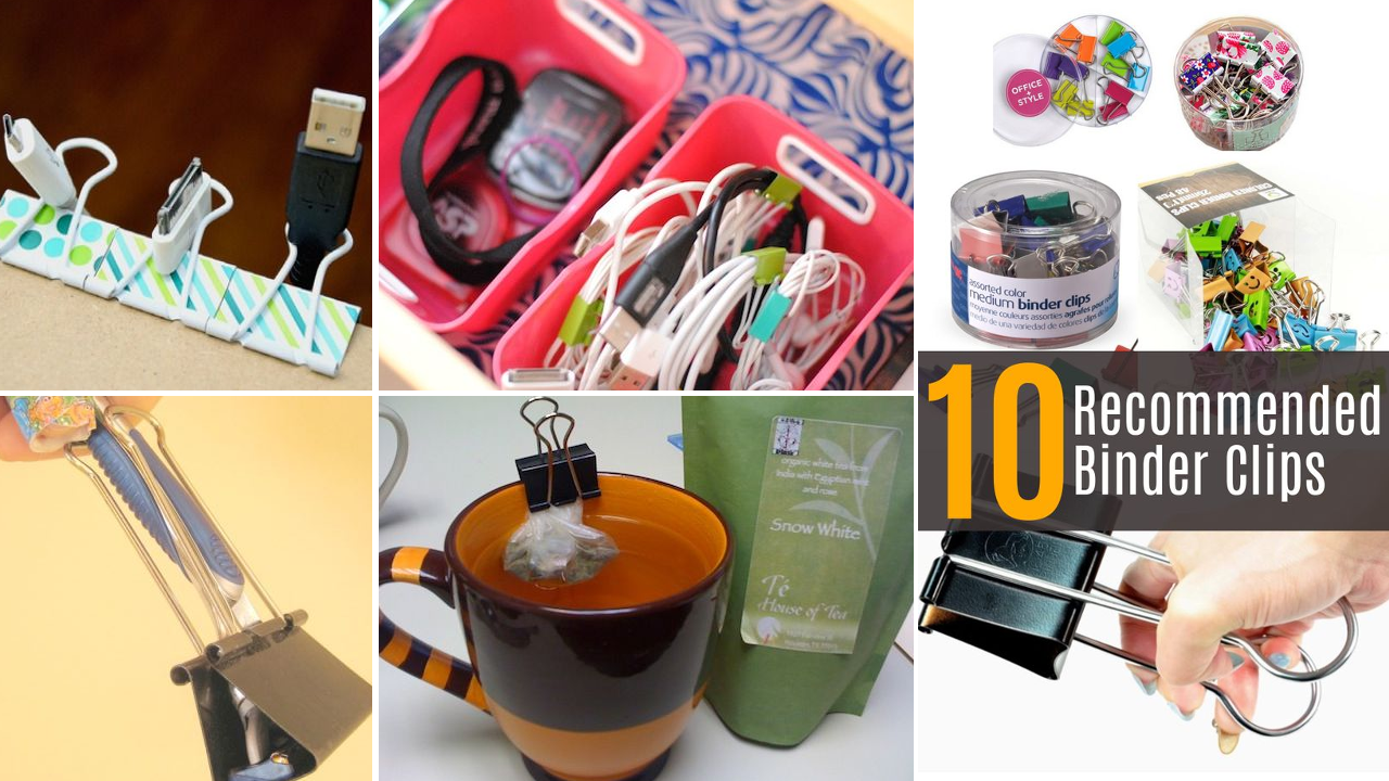 22 Creative Organizing Ideas using Binder Clips featured Simphome com