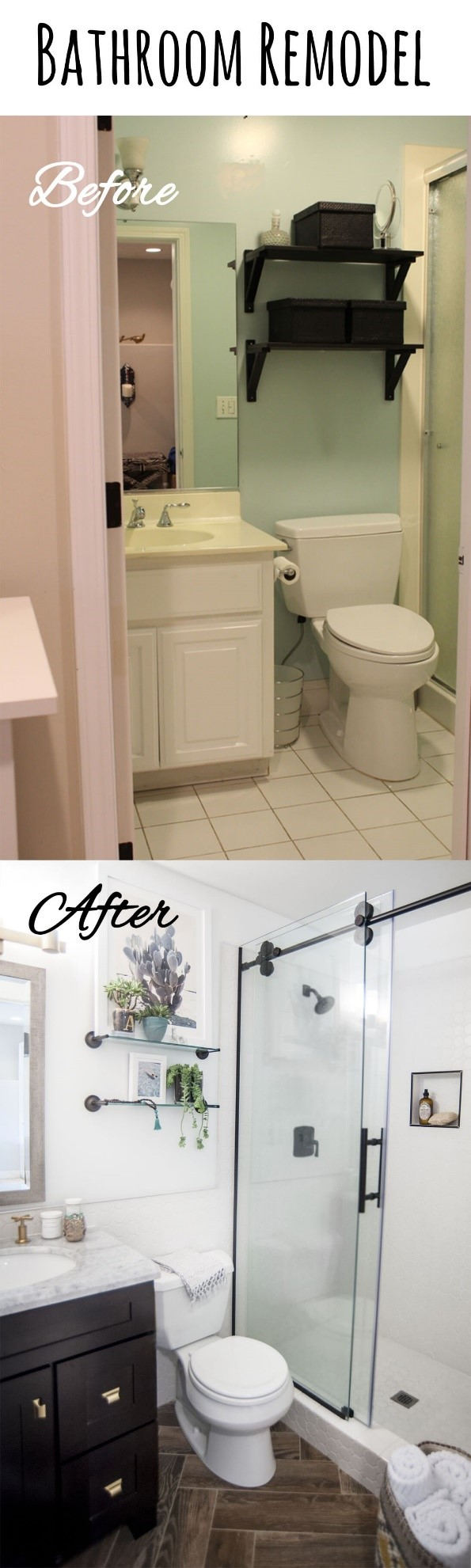 3 Replace the Vanity and Tiles of Your Bathroom via simphome
