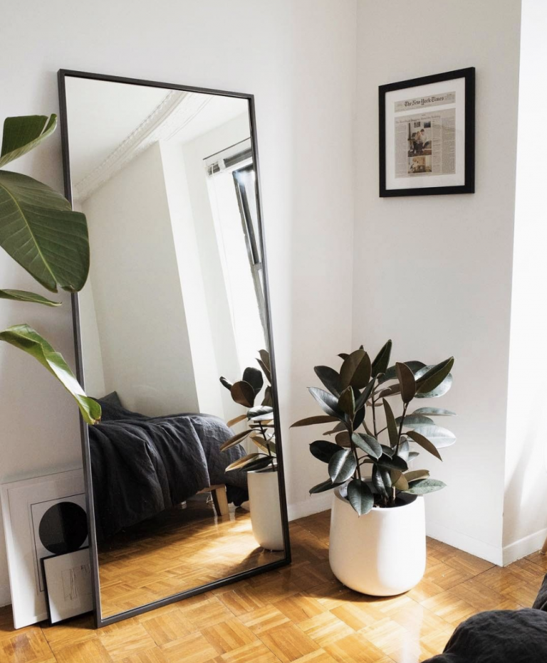 7 Invest in a Huge Mirror via simphome