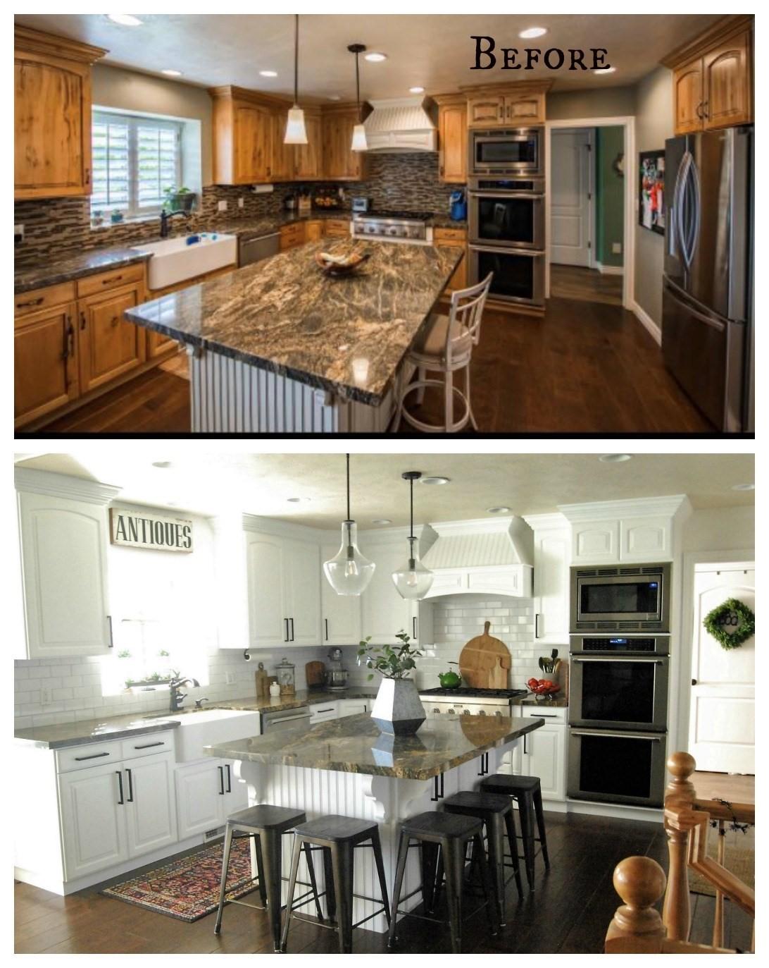 7 Reface the Kitchen Cabinets via simphome