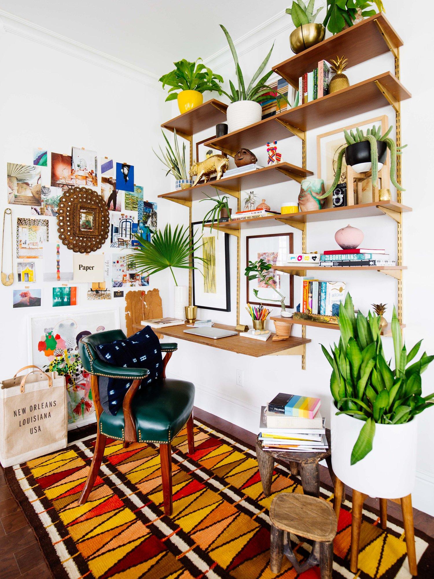 9 Bohemian Office Home Style via simphome