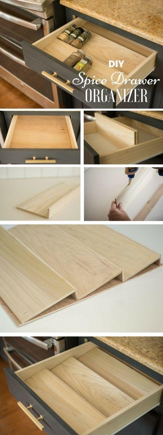 1 DIY Spice Drawer Organizer via Simphome