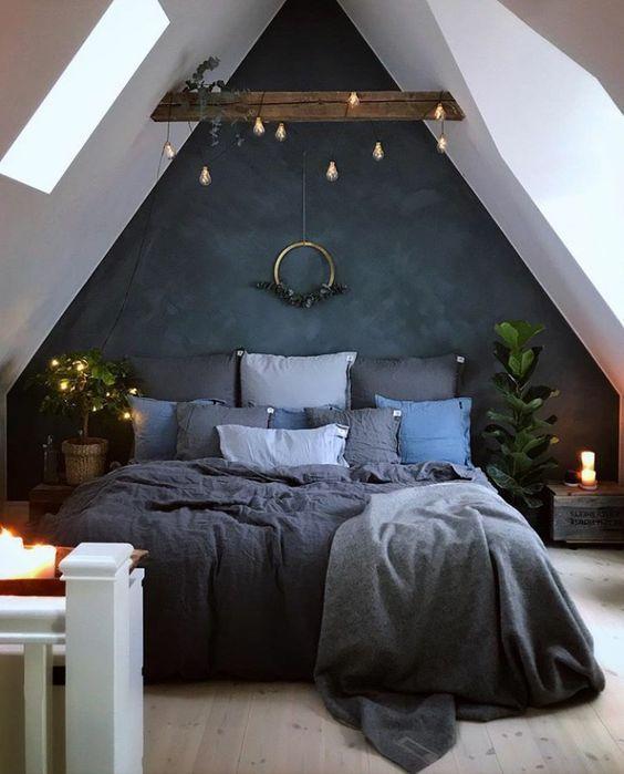 1 Turn your Attic into a Cozy Bedroom via Simphome
