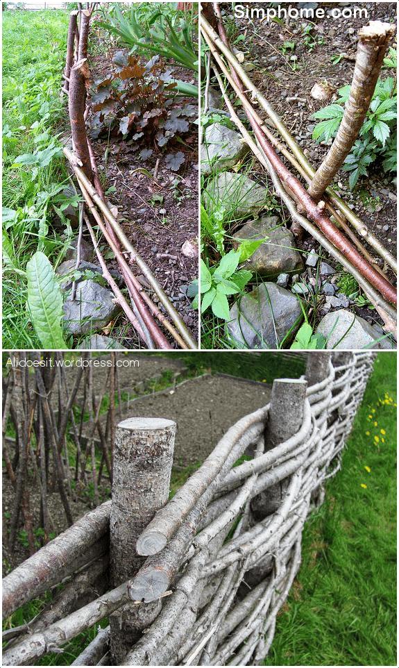 1.Woven Wattle Fence via Simphome.com