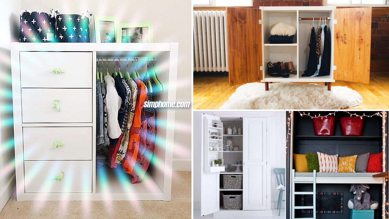 10 Bedroom Wardrobe Cabinet Upcycled ideas via Simphome