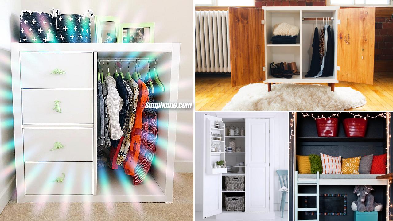 10 Bedroom Wardrobe Cabinet Upcycled ideas via Simphome