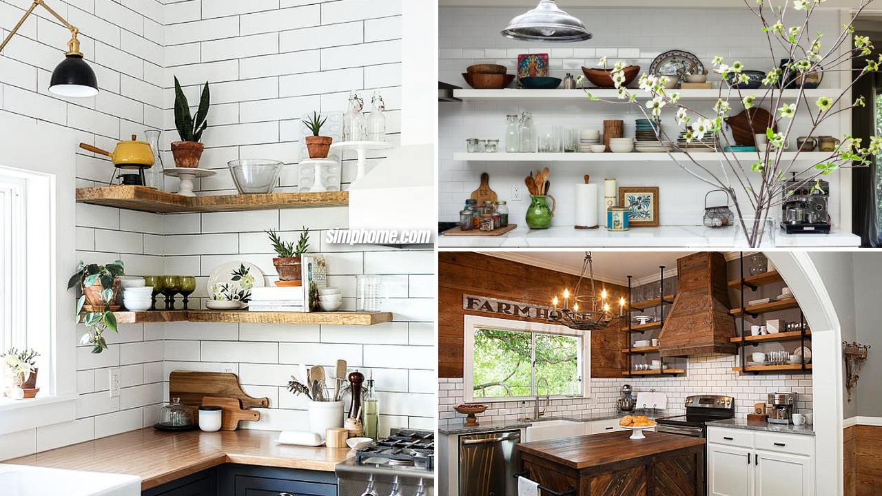 10 Clever Kitchen Shelving Ideas for Living the Kitchen Up via Simphome featured image