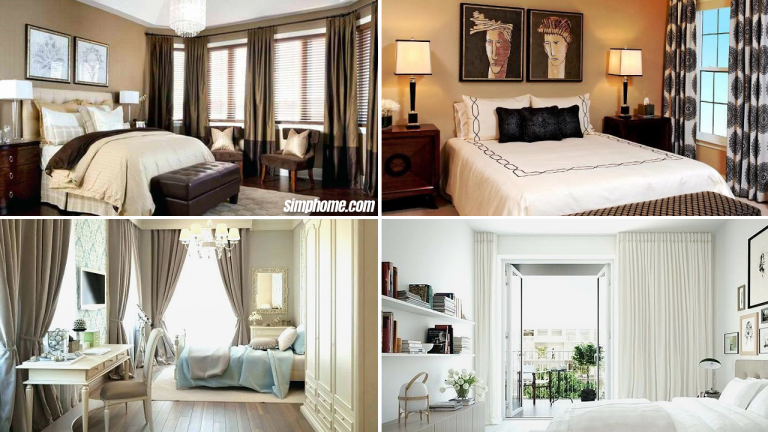 10 Curtain Ideas for Small Bedroom via Simphome com featured