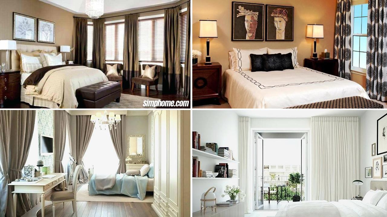 10 Curtain Ideas for Small Bedroom via Simphome com featured