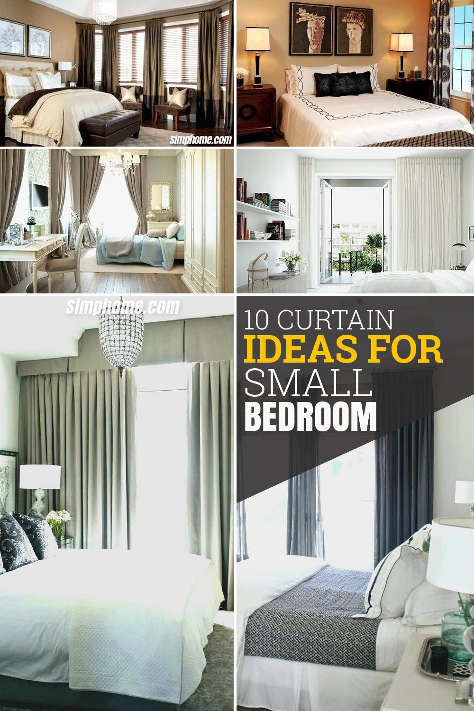 10 Curtain Ideas for Small Bedroom via Simphome com pintrerest image