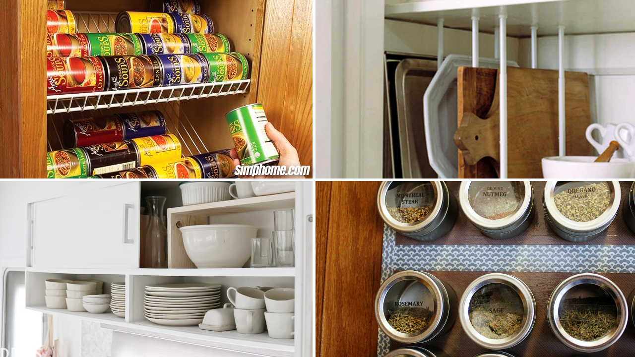 10 DIY Ways How to Organize Kitchen Cabinets via Simphome
