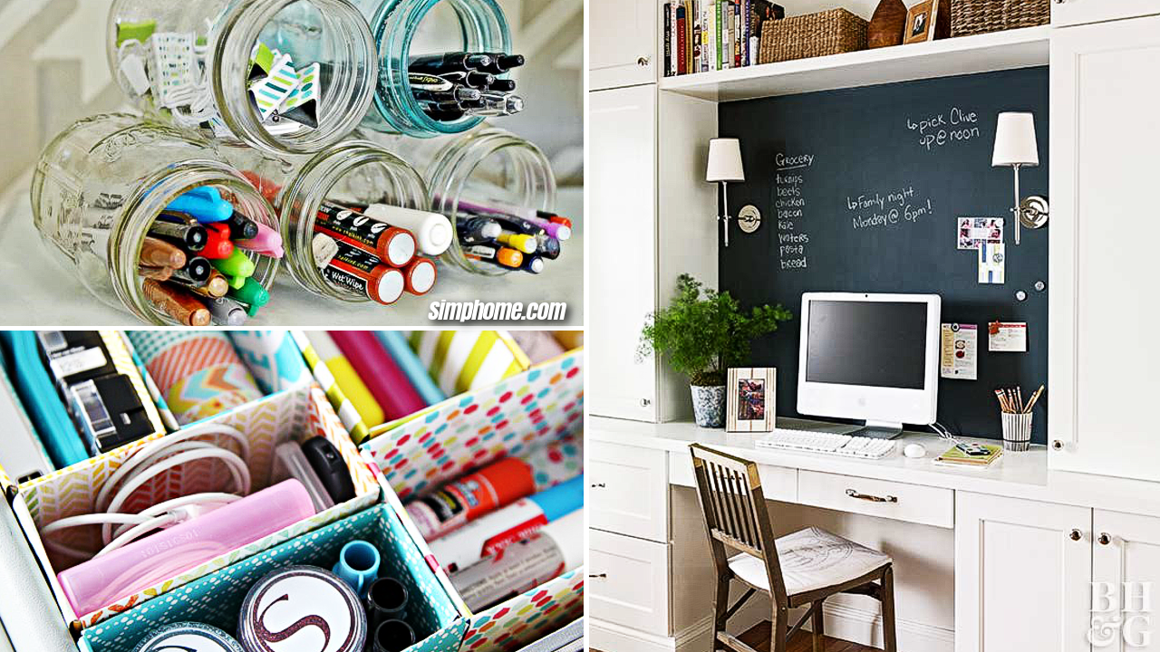 10 Desk Organization that will Make Your Workspace Tidier via Simphome com featured