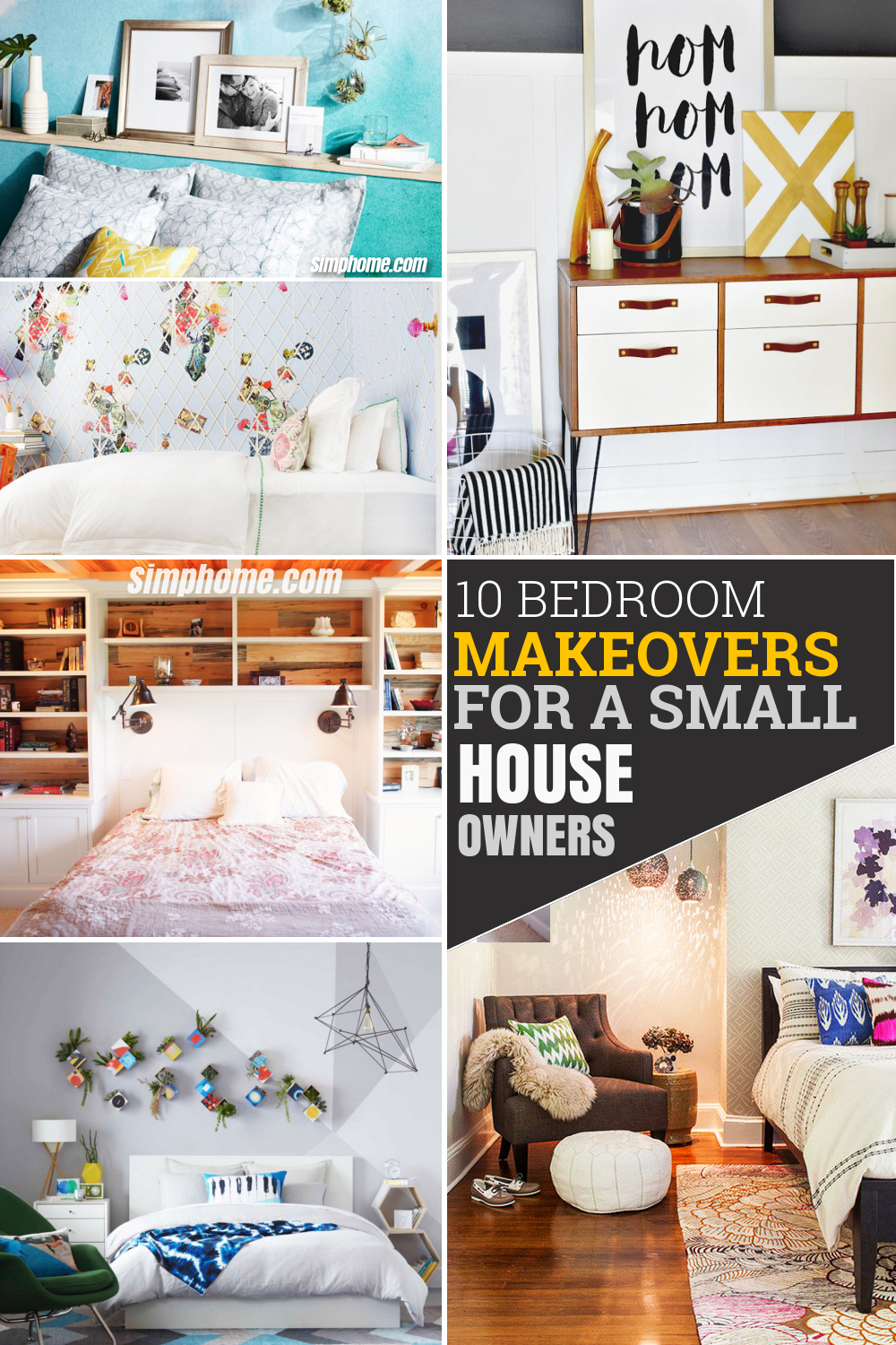 10 Dramatic Bedroom Makeover for Small House via Simphome com Pinterest Featured image