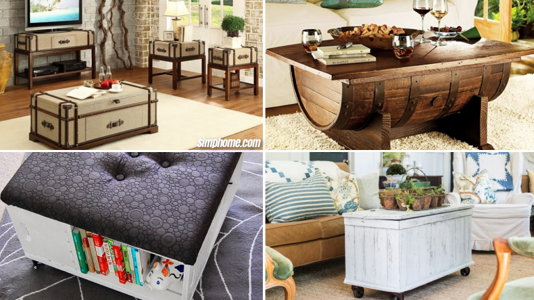 10 Living Room Upcycled Furniture Ideas via Simphome Featured Image