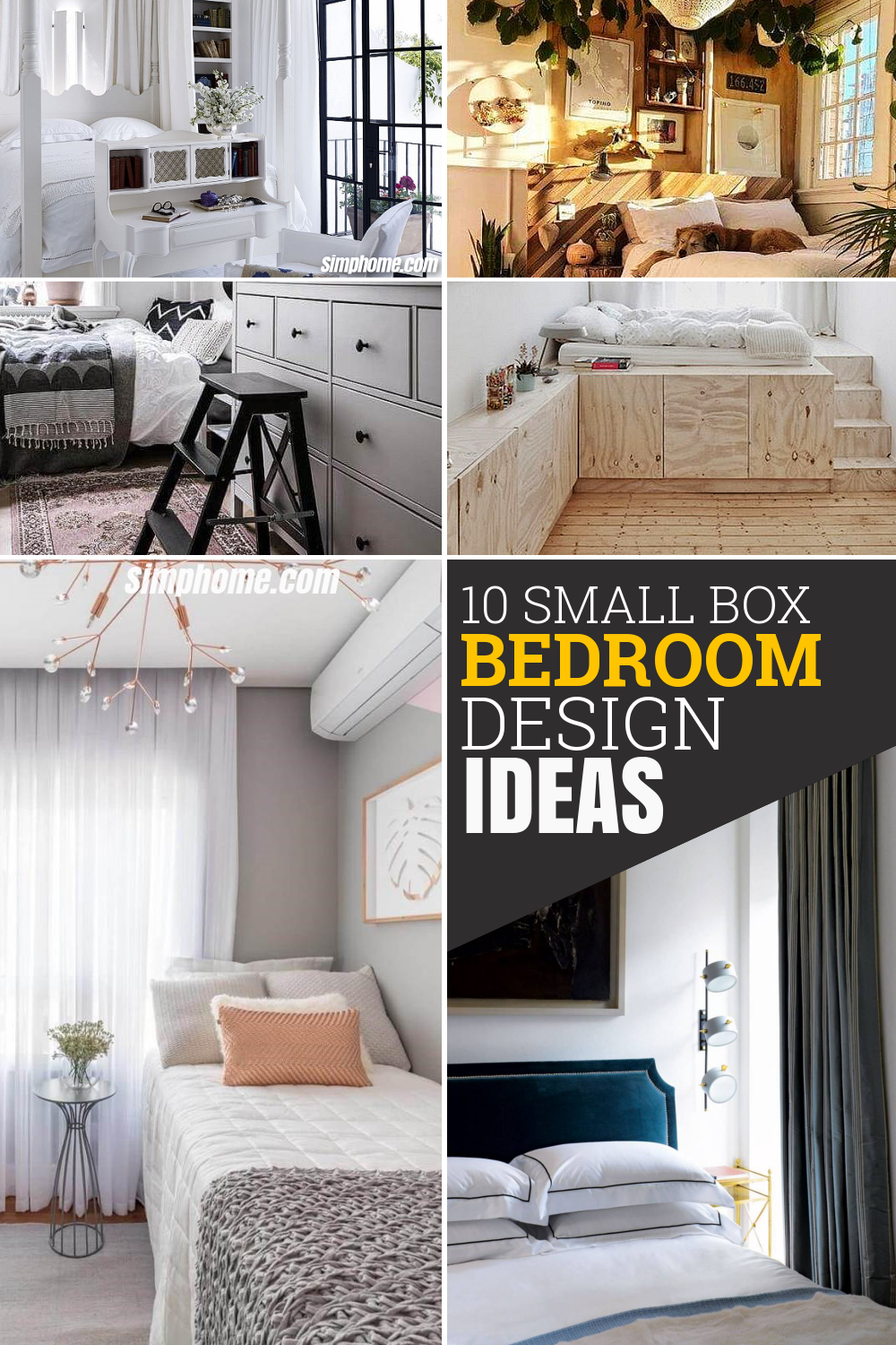 10 Small Box Room Bedroom Design Ideas via Simphome com Pinterest image