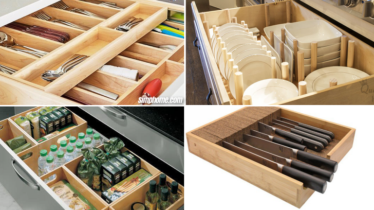 10 Smart ways How to Organize Kitchen Drawers via Simphome com Featured