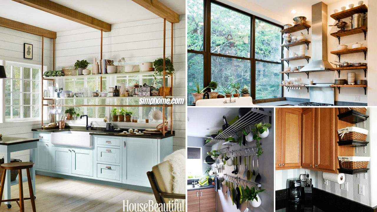 10 Storage Tricks Idea for Small Kitchen via Simphome featured