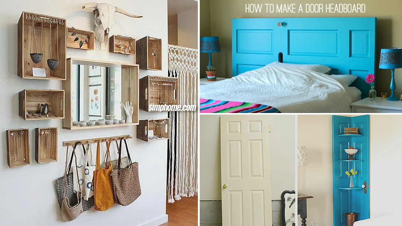 4 Upcycled Furniture ideas for Small Bedroom - Simphome