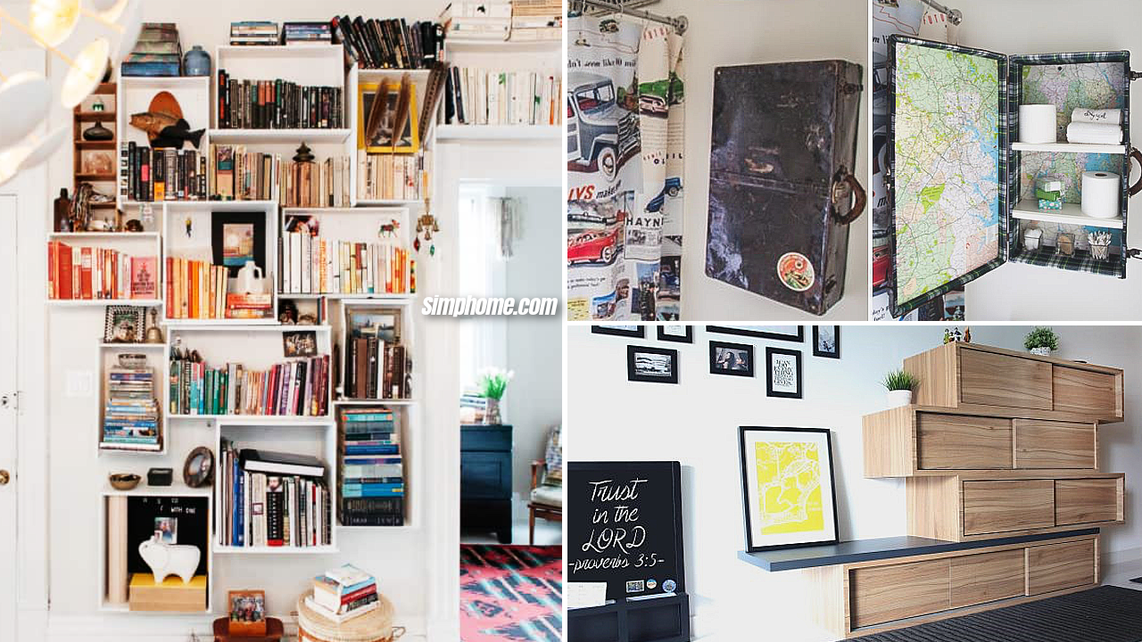 10 Wall Mounted Bedroom Cabinet Upcycling Ideas via Simphome featured image