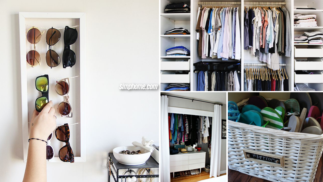 10 closet organization ideas that will maximize your available space via Simphome featured