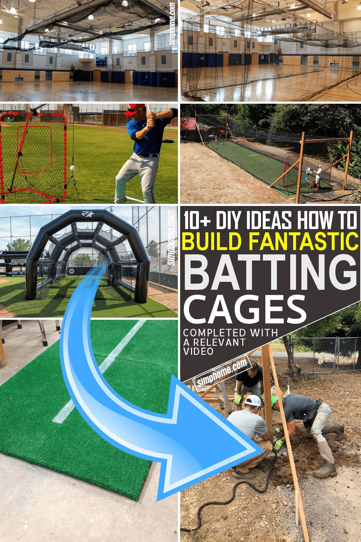 10 ideas how to build fantastic DIY batting cages via Simphome.com