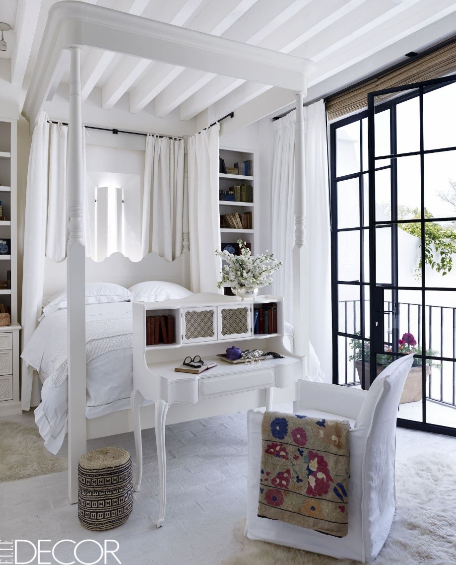 10 All White Bedroom via Simphome