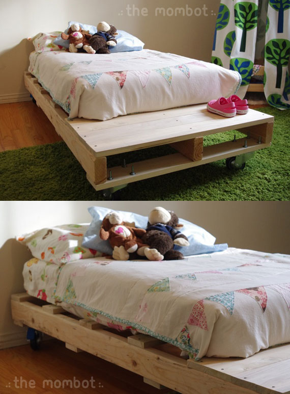10 DIY Pallet Bed idea via Simphome