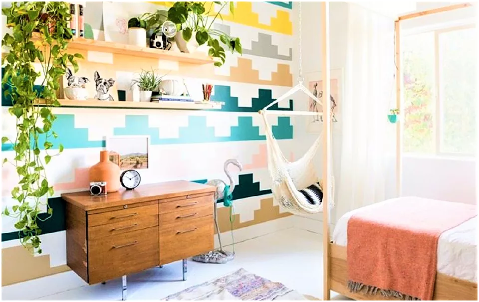 10 From Plain to Colorful Bedroom via Simphome After