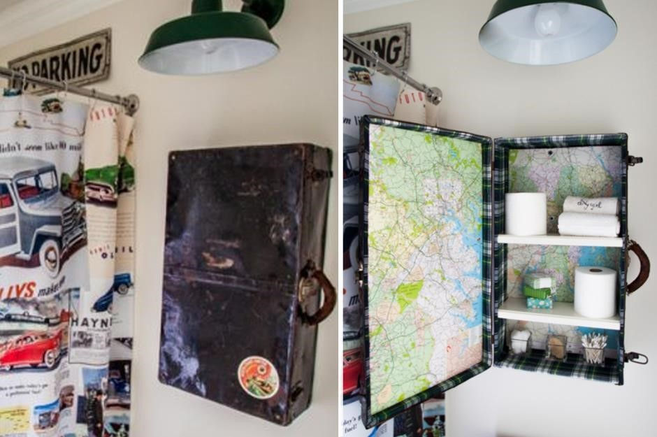 10 Upcycle an Old Suitcase via Simphome
